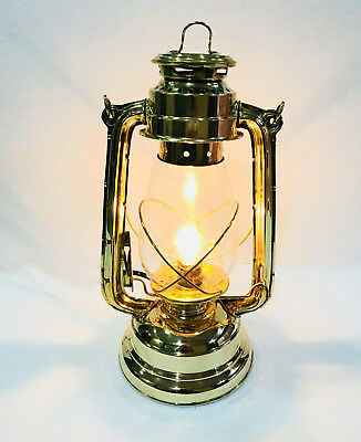 Vintage Brass Electric Lamp Hurricane Ship Lantern Boat Light Decorative Light