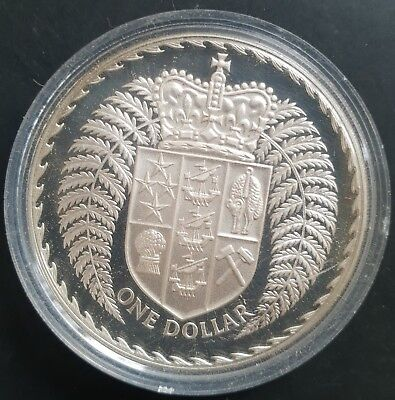 1979 New Zealand Silver Proof Dollar Coin......