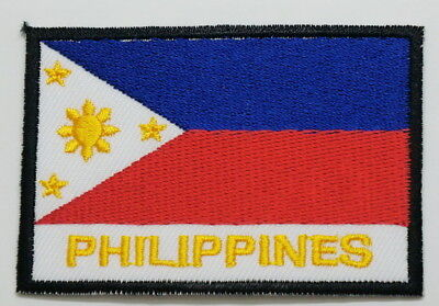 "PHILIPPINES EMBLEM PATCH SEW ON EASY TO USE 2""x3"""
