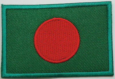 "BANGLADESH Flag EMBLEM PATCH SEW ON EASY TO USE 2""x3"""