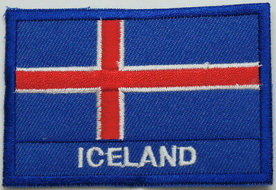 "ICELAND Flag EMBLEM PATCH SEW ON EASY TO USE 2""x3"""