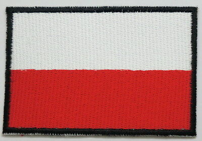 "POLAND Flag EMBLEM PATCH SEW ON EASY TO USE 2""x3"""