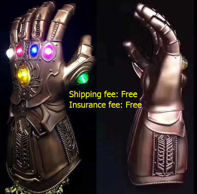 US SHIP Avengers Thanos Infinity Gauntlet LED Light Gloves Cosplay Infinity War