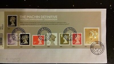 Very fine used 2017 Machin Miniature Sheet (With Gold £1 Stamp)