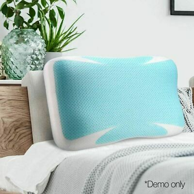 Cushion Cool Gel Memory Foam Pillow Wedge Sleep  Support Bed Neck Back w/ Cover