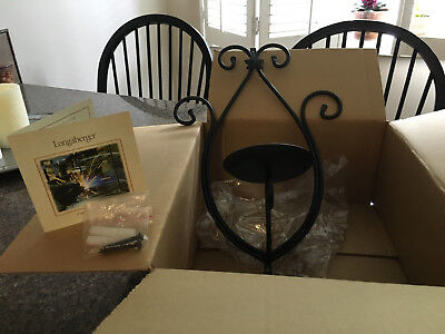 Longaberger Wrought Iron Wall Sconce New in Box