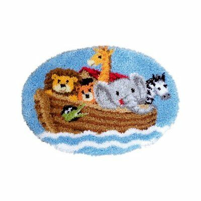 Vervaco Noahs Ark Latch Hook Shaped Rug Kit, Multi-Colour