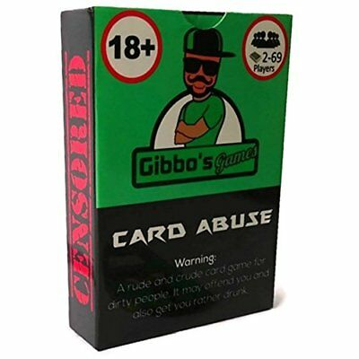 Card Abuse Hilarious Adult Card Game Full of Swear Words- Optional Drinking Gam