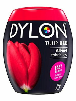 DYLON Machine Dye Pod, Tulip Red, easy-to-use fabric colour for laundry, 350g