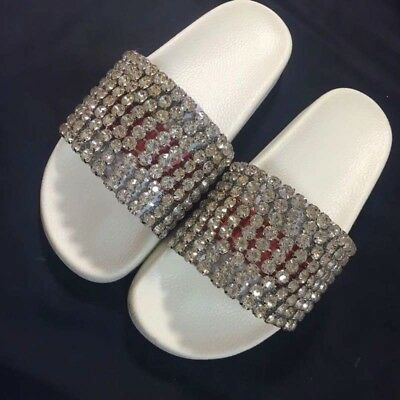 be7134c28453 GUCCI WEB SLIDES with crystals. New size 9.0 -  143.00