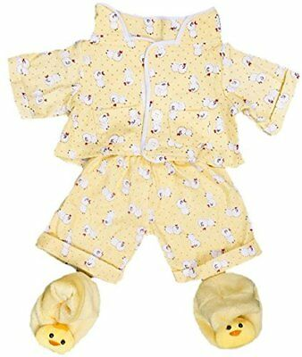 Yellow Chicken PJs Pyjamas with Slippers 8 20cm Teddy Bear Clothes Outfit