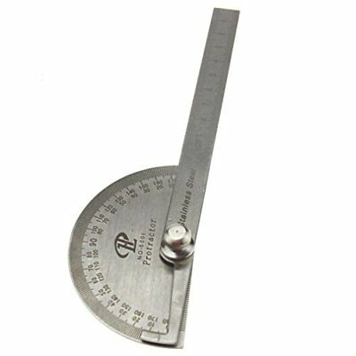 0-180 Degree Stainless Steel Round Head Angle Finder Ruler 100mm Arm Measure Rul