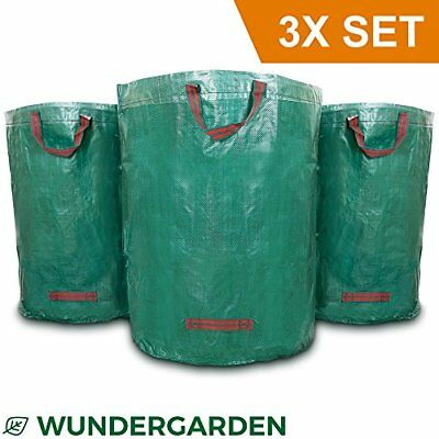 Wundergarden - Large XL garden waste bags in sets of 3 made from robust PP fabr