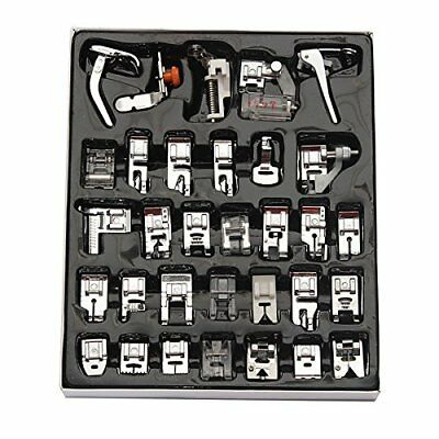 32Pcs Sewing Machine Presser Foot Set For Janome Brother Singer Domestic Part 3