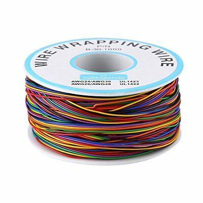 8-Wire Colored Insulation Test Wrapping Cable PN B-30-1000 280M 30AWG Tinned Co