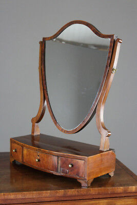 Antique Mahogany Shield Swing Toilet Dressing Table Mirror