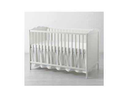 IKEA LEN COT SKIRT- WHITE 70X140 cm- GIVE WARM & COSY TOUCH TO BABY COTS UK-B786