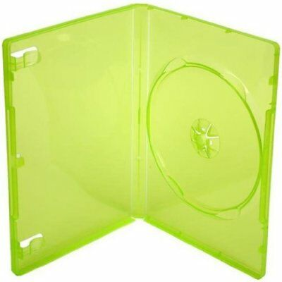 Four Square Media 1 X XBOX 360 Replacement Game Cases Translucent Green - Pack o
