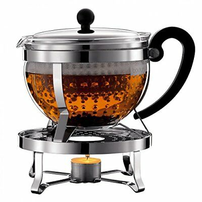Bodum K11143161Chambord Tea Set with Rechaud 1.5L and 2pack of Double Wall