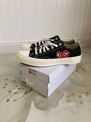 fe9535261bef Converse X Comme des Garcons Play Low Tops Black Size 10 Mens NMD Supreme  yeezy