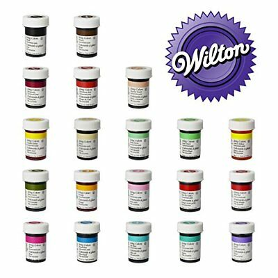 Wilton Complete Set of 20 Food Gel Paste Colours. Perfect for Every Cake Decorat