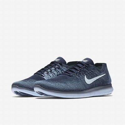 ... shopping nike free rn flyknit 2017 men shoes ocean fog blue white 880843  402 size 14 e650c515b