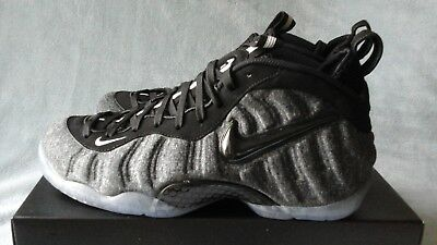 5f2998f11b3 NIKE AIR FOAMPOSITE Pro Tech Fleece Wool Dark Grey 624041-007 Size 9 ...