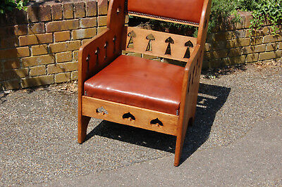 ARTS and CRAFTS  ARMCHAIR,GOODYER,LIBERTY'S,QUALITY,STUDY,,antique,vintage