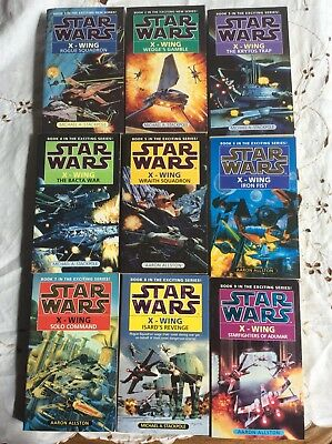 Star Wars X-Wing Rogue Squadron Books 1-9 Michael A Stackpole Aaron Allston