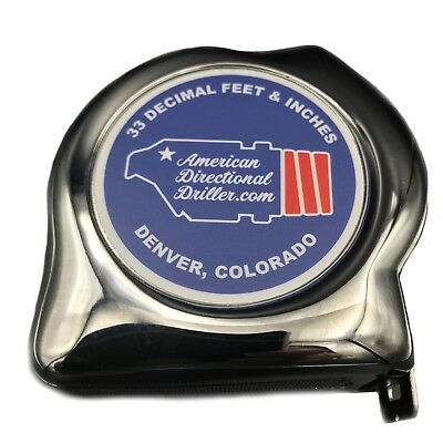 American Directional Driller BHA Tape Measure, 33 Decimal Feet & Inches