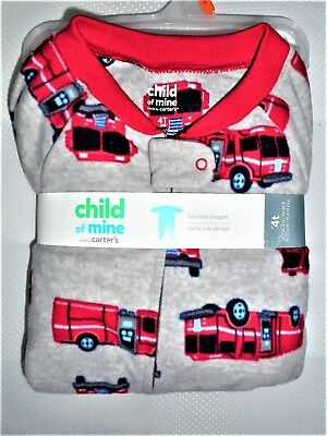c3fe4b7887f4 CHILD OF MINE Carter s Toddler Boy s One-piece Footed Fire Trucks ...