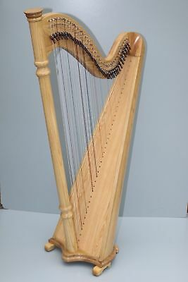 New 38 Strings Harp Lever Harp Big Harp Round Back Harp With Bag and Tunning Key