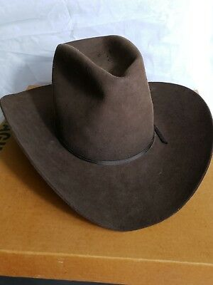 1e0a52496aabf American Hat Co. Chocolate 7X Clear Beaver Felt Cowboy Hat Western Rodeo 7  1