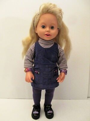 "Vintage Playmates Amazing Ally Talking Interactive Doll 18"" Tall 1999"
