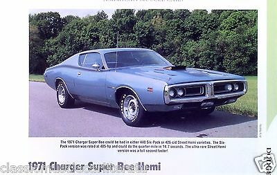 1971 Dodge Charger Super Bee Hemi 426 ci or 440 Info/Specs/photo/prices 11x8
