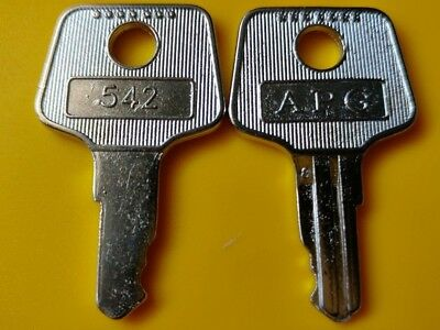 Pair of APG 542 Keys for Vasario Cash Drawers - Register Till Key # VPK-8K-542