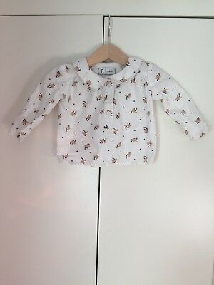 LaRedoute Baby Girl Pretty Floral White Shirt Top 3 Months