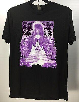 2c28a665e Jim Henson Labyrinth David Bowie T-Shirt Loot Crate Purple Graphics Size  Large