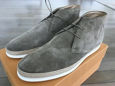 5f73a2cd582 600$ TOD'S GRAY Polacco Gomma Rafia Boots Size US 13 Made in Italy ...