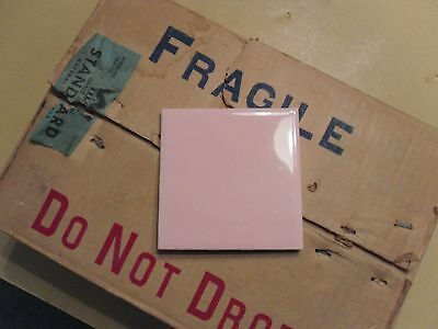 Vintage Pink Ceramic Tile Wheeling Tile Co. NOS