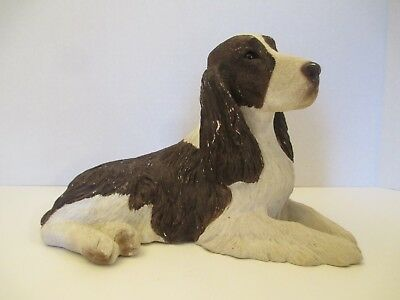 "Sandicast Springer Spaniel Dog Figurine, 6.25"" Tall X 10"" Long"