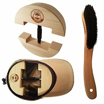 Hat Mate Premium Hat Stretcher with BONUS Hat Brush. Solid Wood, One Size Fits A