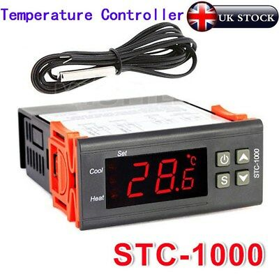 220V Digital STC-1000 Thermostat Temperature Controller -50℃~99℃ Heating Cooling