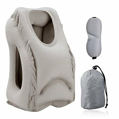 HOMCA Inflatable Travel Pillow, Portable Large Neck Pillow with Full Body and He