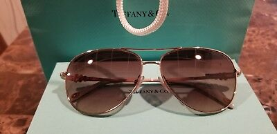 52100632ada S I Authentic Tiffany   Co. Aviator Sunglasses gold and brown with Tiffany  blue