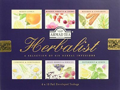Ahmad Tea Herbalist Collection Teabags, Pack of 6, 60-Count