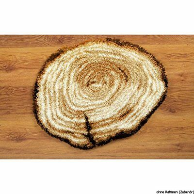 Vervaco Latch Hook Shaped Rug Tree Stump
