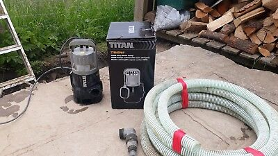 Titan submersible pump 400w ttb583pmp includes pipe attachment used for 1 night