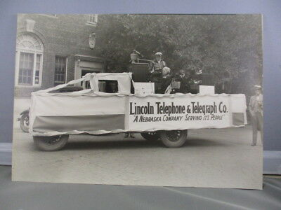 B&w Photo Lincoln Telephone & Telegraph Parade Float Switchboard 1928 York,ne