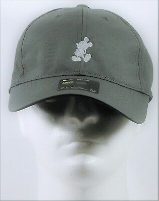 Disney Parks Exclusive Mickey Mouse Grey Nike Dri Fit Baseball Golf Cap Hat  NEW 49ef5d1d60b